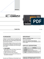 Ic-gm651 Vhf Manual