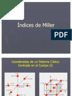 Indices de Miller.