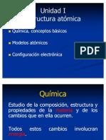 Modelos Atomicos y Configuracion Electrónica.