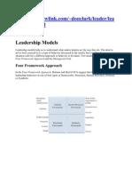 Model Leadership