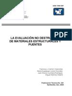 Evaluacion No Destructiva de Materiales Estructurales y Puentes