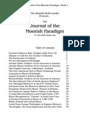 Journal of the Moorish Paradigme | Atlantis | Lenape