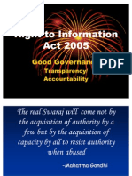 Right to Information Act Ppt
