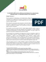 Ley de Rev Prod Agro y Pequeña Prod Campesina