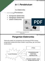 1- Pengertian Elektronika