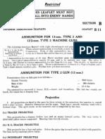 Japanese Ammunition Leaflet B11 Japanese Ammunition for 13 mm Type 2 & 13.2 mm Type 3 Machine Guns