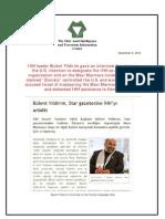 IHH Leader Bulent Yildirim Gave an Interview Focusing on the U.S. Intention to Designate the IHH as a Terrorist Organization and on the Mavi Marmara Incident