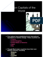 Fashion Capitals of the World