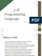 History of Programming Language