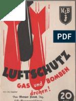 Luftschutz - Gas und bomben drohen ! von Werner Peres 1937 mit 9 Bildern