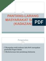 Pantang-larang Masyarakat Sabah