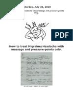 Acupressure Points for Migrain Headache
