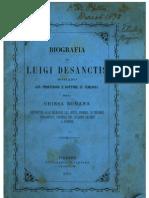 Biografia di Luigi Desanctis romano già professore e dottore in teologia della chiesa romana