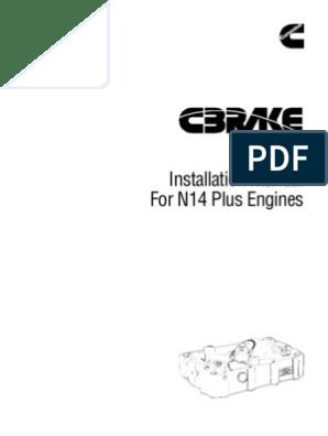 Manual for N14 | Valve | Piston