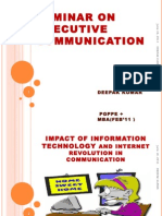 Seminar on Executive Communication.deepAK SINGH16