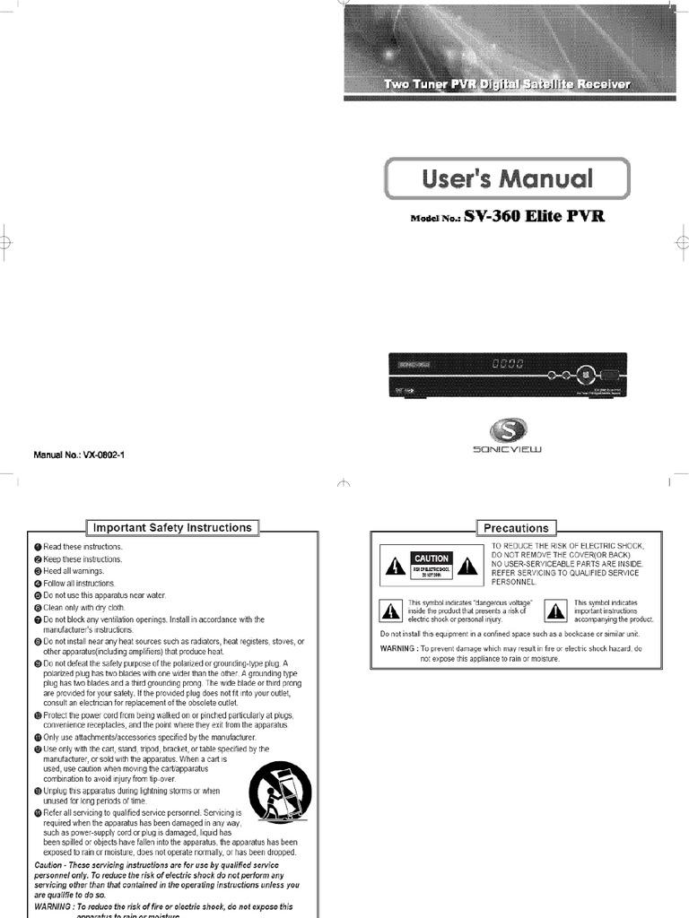 Sonicview 360 premier tv receiver | ebay.