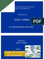 Tema 1- Lugar de La Etica