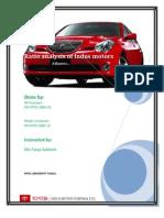 Financial Ratio Analysis of Indus Motors