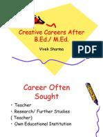 Creative Careers After B.ed.