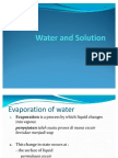 Water and Solution