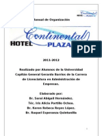 Manual de Organización Hotel Continental Plaza