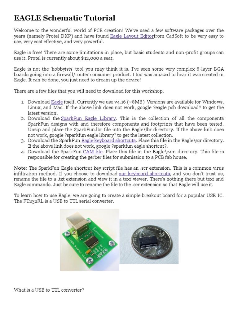 EAGLE Schematic Tutorial   Usb   Device Driver