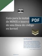 Guía para la instalación de MINIX e inserción de una línea de código en kernel
