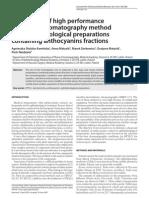 HPTLC Ophtalmological Preparation