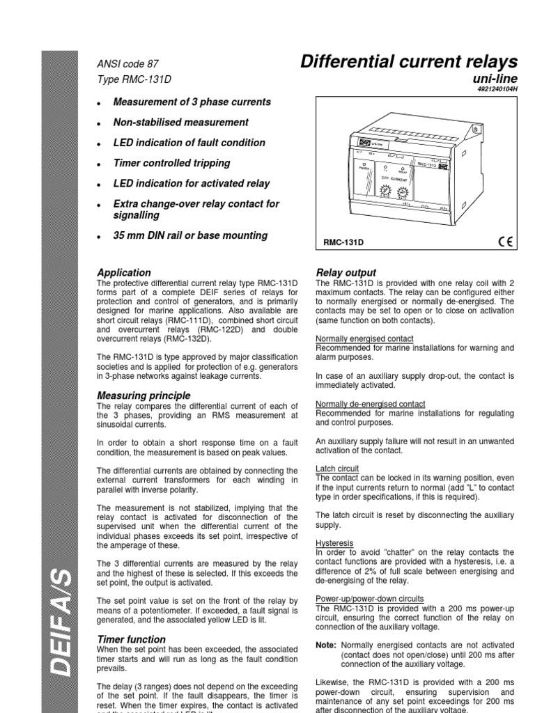 rmc 131d relay electrical engineering rh es scribd com