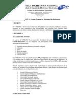 UME-BOT 6 - SEXTO CONCURSO NACIONAL ROBÓTICA