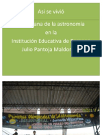 TRABAJOS DE ASTRONOMIA