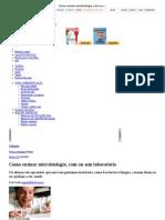 Como ensinar microbiologia, com ou sem laboratório