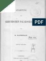 Wattenbach Einleitung Gk Paläographie