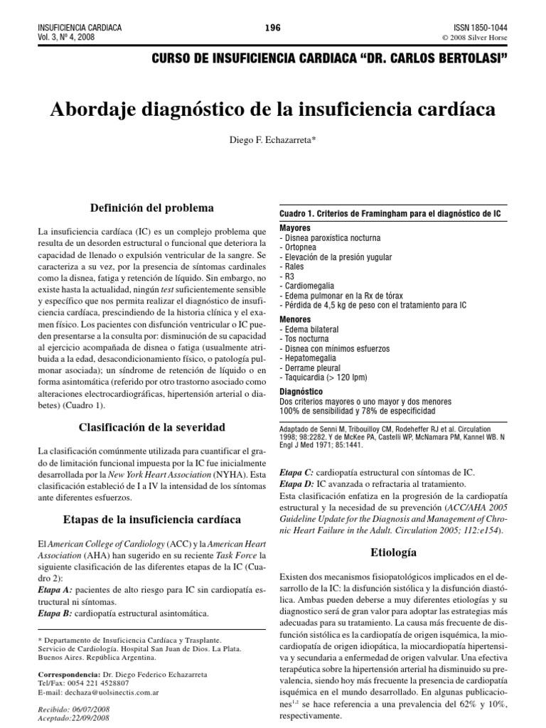 Perdida de peso insuficiencia cardiacat