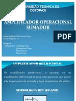 amplificador operacional sumador