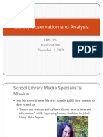 Library Observation and Analysis for LBSC640