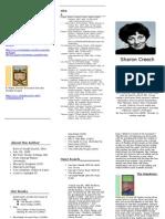 Sharon Creech Brochure