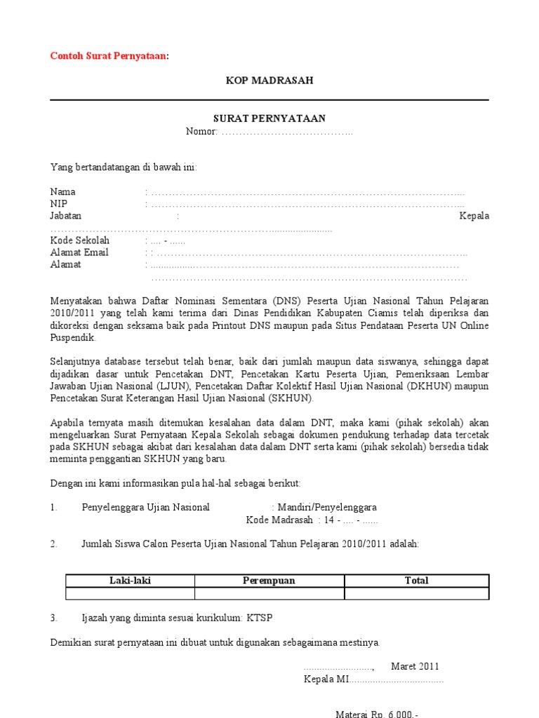 Contoh surat pernyataan pembetulan thecheapjerseys Gallery