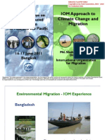IOM Approach to Climate Change and Migration (Bangkok)