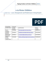 Piping Failure in Water Utilities