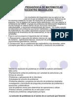 PROPUESTA PEDAGÓGICA DE MATEMÁTICAS