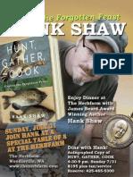 Hank Shaw at the Herbfarm