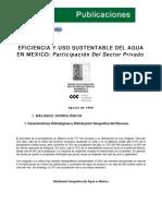 """Cespedes - CCE (1998) """"Eficiencia y uso sustentable del agua en México Participación del sector privado"""""""