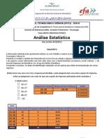 Questionário EFA D (Grupo Rosmary) - Análise Estatística