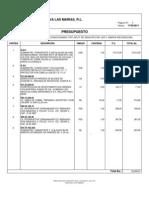 Presupuesto Aire Acondicionado 36000 b.t.u.