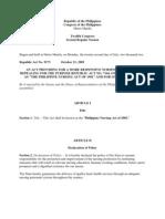 Philippine Nursing Law of 2002 Ra # 9173