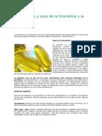 des y Usos de La Grenetina y La Gelatina