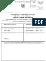 Pakistan Scholarships Osi Chevening Cambridge Application Form 2008 09