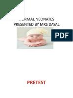 Normal Neonates