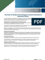 Student Visa Changes